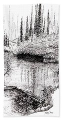 Alaska Pond Beach Towel