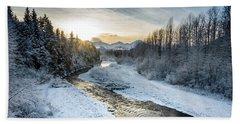 Alaska Sunset Beach Towel