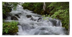 Alaska Waterfall Picture  Beach Towel