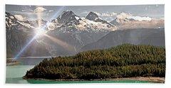 Alaskan Mountain Reflection Beach Towel