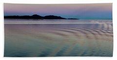 Alaskan Sunset At Sea Beach Towel
