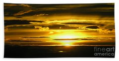 Alaskan Sunset Beach Towel