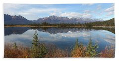 Reflections At Alaska's Mentasta Lake Beach Towel