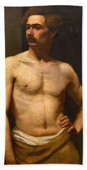 Albert Edelfelt Male Model Beach Towel
