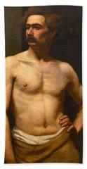 Albert Edelfelt Male Model Beach Towel