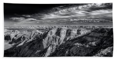 Beach Towel featuring the photograph Alberta Badlands by Wayne Sherriff