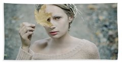 Albino In Forest. Prickle Tenderness Beach Towel