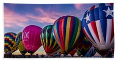 Albuquerque Hot Air Balloon Fiesta Beach Towel