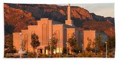 Albuquerque Lds Temple At Sunset 1 Beach Sheet