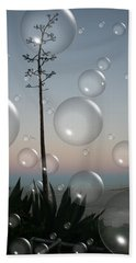 Beach Towel featuring the digital art Alca Bubbles by Holly Ethan