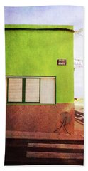Beach Towel featuring the photograph Alcala Green Corner by Anne Kotan