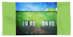 Beach Towel featuring the photograph Alcala Green House No1 by Anne Kotan