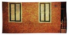 Beach Towel featuring the photograph Alcala, Orange House by Anne Kotan