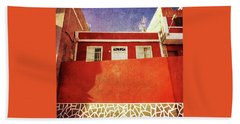 Beach Towel featuring the photograph Alcala Red House No2 by Anne Kotan