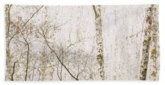 Alders In The Fog Beach Towel