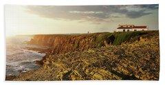 Beach Sheet featuring the photograph Alentejo Cliffs by Carlos Caetano