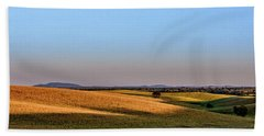 Beach Towel featuring the photograph Alentejo Fields by Marion McCristall