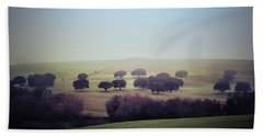 Alentejo In The Mist Beach Sheet by Marion McCristall
