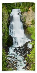 Beach Towel featuring the photograph Alexander Falls - 2 by Stephen Stookey