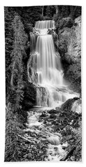 Beach Towel featuring the photograph Alexander Falls - Bw 1 by Stephen Stookey