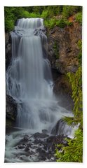 Beach Towel featuring the photograph Alexander Falls by Jacqui Boonstra