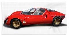 Alfa Romeo 33 Stradale 1967 Beach Towel
