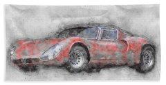Alfa Romeo 33 Stradale 2 - 1967 - Automotive Art - Car Posters Beach Towel