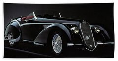 Alfa Romeo 8c 2900 Mercedes Benz Beach Towel
