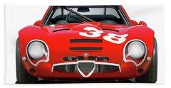Alfa Romeo Giulia Tz2 Beach Towel
