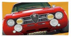 Alfa Romeo Gtam On Yellow Beach Towel