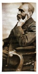 Alfred Nobel, Scientist By Mary Bassett Beach Towel