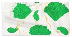 Algae Blooms Beach Towel