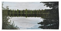 Beach Towel featuring the painting Algonquin Park by Kenneth M  Kirsch
