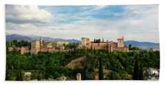 Alhambra In The Evening Beach Towel