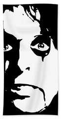 Alice Cooper Pop Art Beach Towel