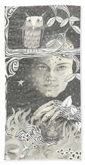 Alice Syndrome Beach Towel by Melinda Dare Benfield