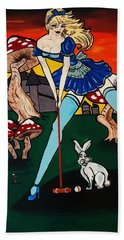 Alice's  In Wonderland Beach Towel