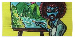 alien Bob Ross Beach Towel