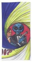 alien Bond Beach Sheet
