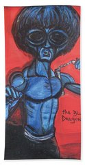 alien Bruce Lee Beach Towel