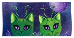 Alien Cats Beach Towel