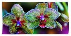 Alien Orchids Beach Sheet by Bill Tiepelman