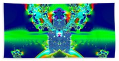 Alien Poodle Fractal 96 Beach Sheet