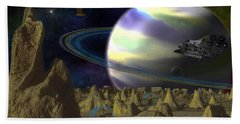 Alien Repose Beach Towel