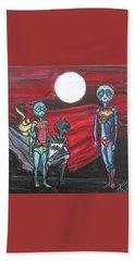 Alien Superheros Beach Sheet