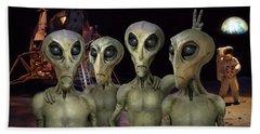 Alien Vacation - Kennedy Space Center Beach Sheet by Mike McGlothlen