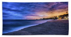 Aliso Beach Lights Beach Towel