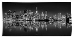 Beach Towel featuring the photograph Alive At Night by Az Jackson