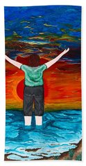 Beach Sheet featuring the painting Alive by Cheryl Bailey