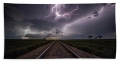 Beach Towel featuring the photograph All Aboard  by Aaron J Groen